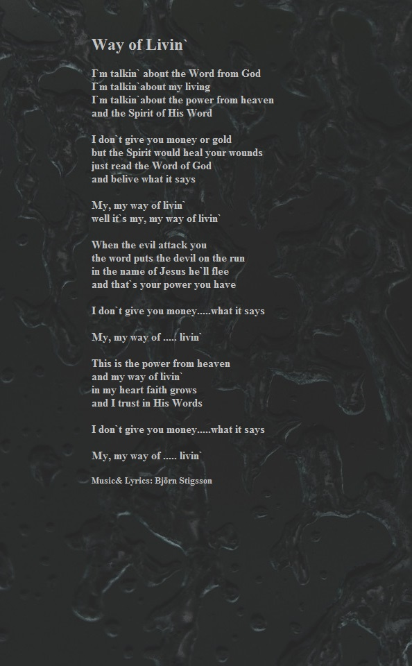 Lyrics | BjornStigsson.com
